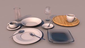 tableware pack 3D model
