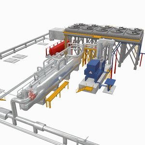geothermal power plant 3D