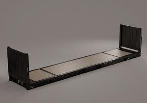 40 flat rack - 3D model