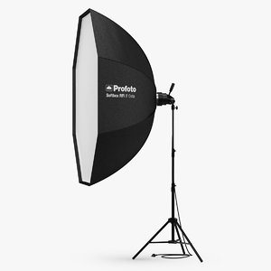 3D model profoto rfi softbox 5ft