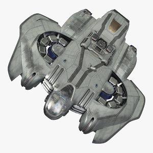sci-fi dropship drop 3D model