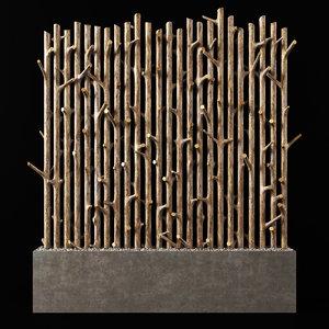 branch planter plant 3D model