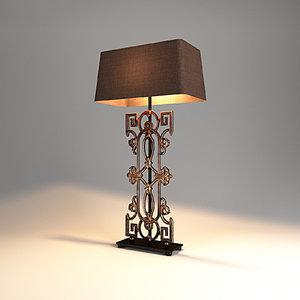 3D model table lamp lights