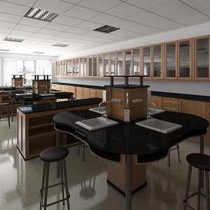scientific laboratory classroom 3D