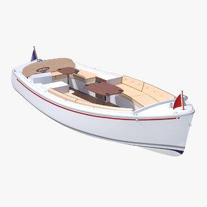 3D pleasure boat