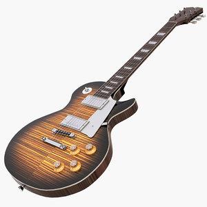 3D electric guitar gibson