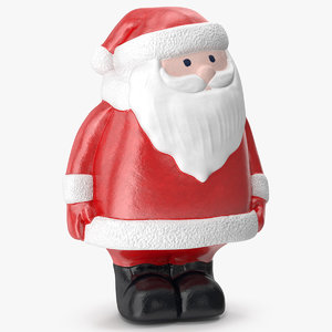3D santa claus decorative figurine