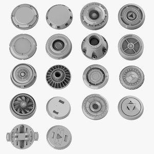 3D model circular kitbash
