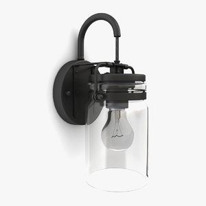 outdoor wall lantern 22 3D model
