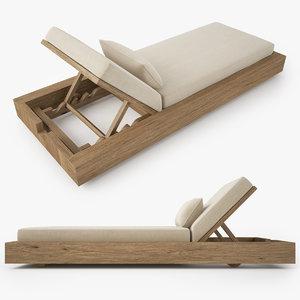 restoration hardware bardenas chaise model