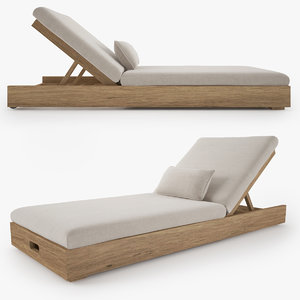 restoration hardware merida chaise 3D model
