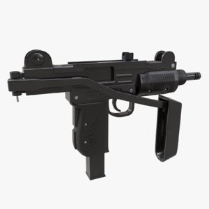3D submachine gun uzi model