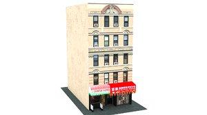 chinatown shop building 3D model