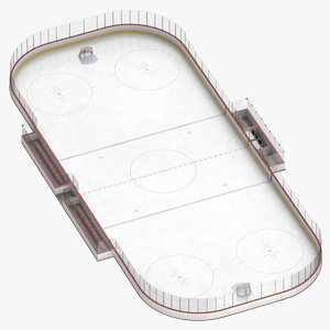 ice hockey rink 3D model