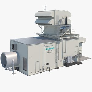 siemens sgt-800 industrial gas turbine 3D model