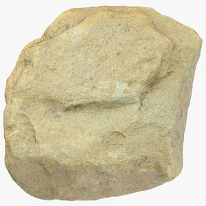 3D model smooth river rock 20