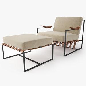 annette armchair ottoman jorge model