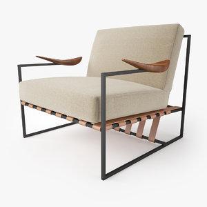 3D annette armchair jorge zalszupin model