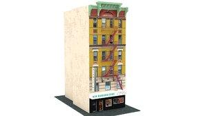 3D chinatown shop building 02