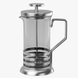 3D hario french press model
