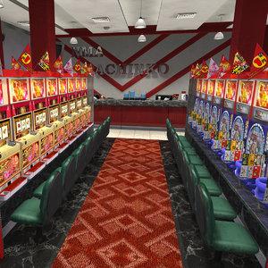 pachinko center 3D model
