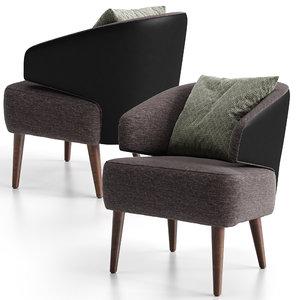 3D confort line zoe armchair model