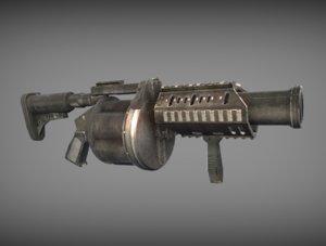 ready grenade launcher model