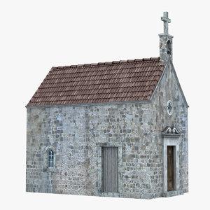 church european europe building 3D