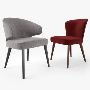 minotti aston dining chair model