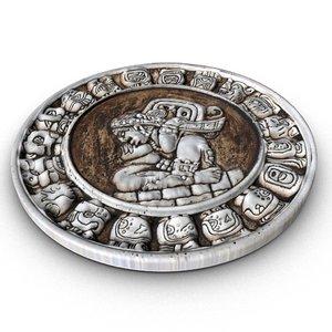 3D mayan zodiac circle model