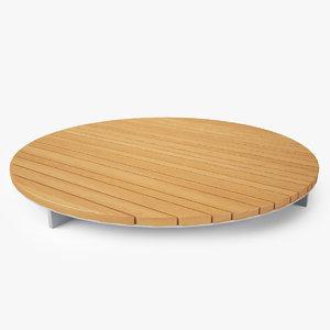 paola lenti sunset table 3D model