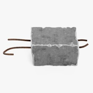 concrete debris 3D model