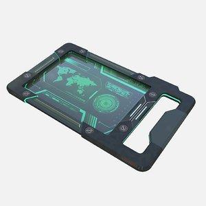 3D ready sci fi tablet pc