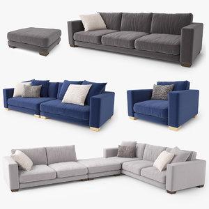 3D jardan enzo sofa
