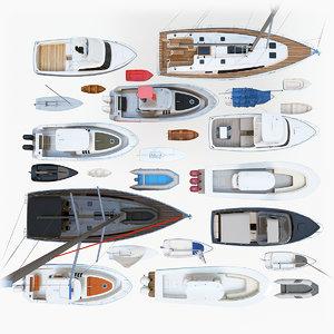 3D model 25 ships
