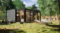 folding container house 3d model