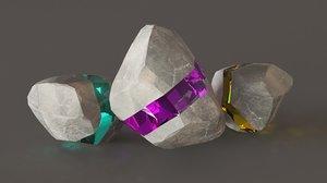 resin stone 3D