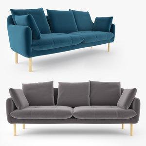 3D jardan andy sofa interior