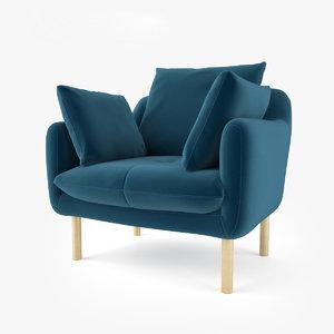 jardan andy armchair 3D model