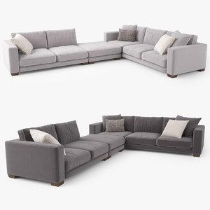3D jardan enzo corner sofa