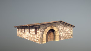stone fort stable 3D model