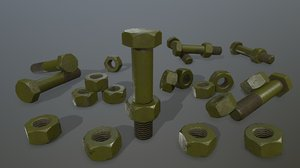 3D bolts model