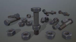 bolts 3D model