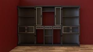 3D model bookshelf shelf