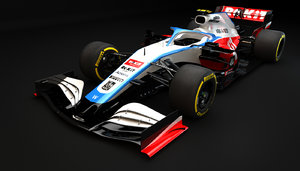 3D f1 williams fw43 2020