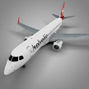 3D helvetic airways embraer190 l619