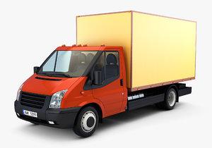 3D model generic mini truck box