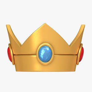 3D prince peach crown -