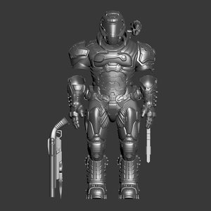 3D armor print model