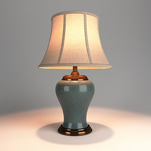 3D table lamp lights v-ray model